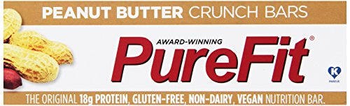 PureFit Gluten-Free Nutrition Bars with 18 grams Protein: Peanut Butter Crunch, 2 oz Bars, Pack of 15