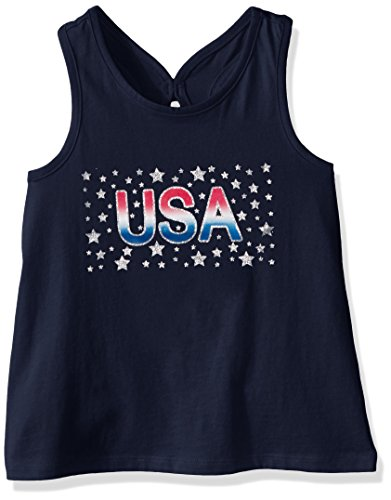 The Children's Place Little Girls and Toddler Americana Tank, Tidal, 3T