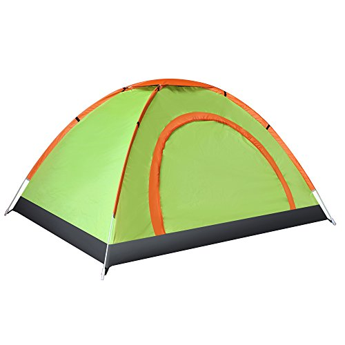 EverKing Outdoor Double Person Automatic Pop up Instant Tent, Portable Cabana Beach Tent 2 Person Fishing Anti UV Beach Tent Beach Shelter - Quick Set Up in Seconds (fluorescent green) by Everking