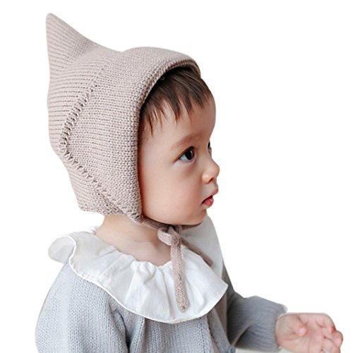 [Baby Hat, Yasalu Autumn Winter Baby Knitted Crochet Solid Beanie Cap (coffee)] (Jack In The Box Costume Head For Sale)