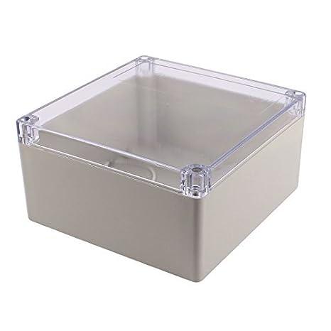 eDealMax 192 x 188 x 100 mm cubierta transparente a prueba de agua caja de conexiones