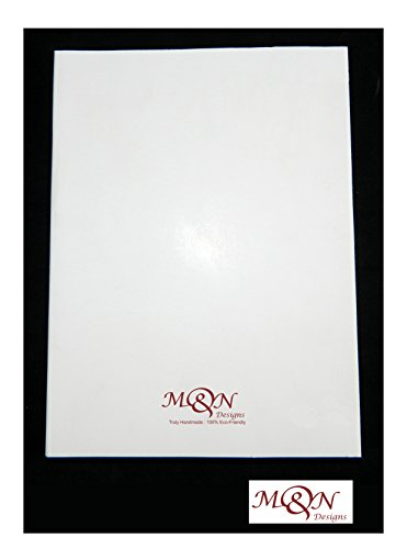 Large Journal Refill - Large Thick Unlined White Paper Leather Journal Refill Compatible with All Type of M&N Designs Journal (7x5)