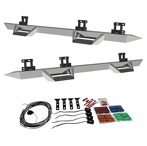 (ICI SS-RT96DG/RT-COMPLETE4 Pair of Stainless Steel Magnum RT Steps and 4 Drop Step LED Lights for Ram 2500/3500 Mega Cab)