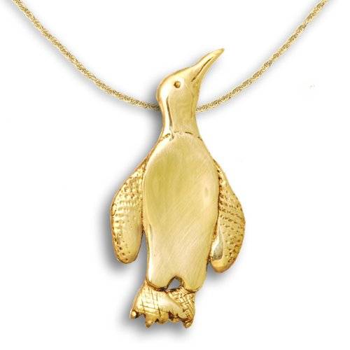 14k Gold Penguin Pin Pendant by The Magic Zoo