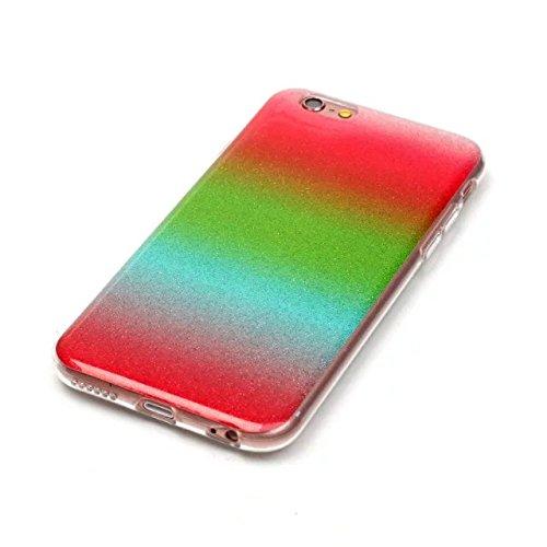 JIALUN-carcasa de telefono caso del iPhone 6 6s, cubierta suave de la caja protectora suave del color del gradiente transparente del TPU para el iPhone 6 6s ( Color : Metallic , Size : IPhone 6 6s ) Metallic
