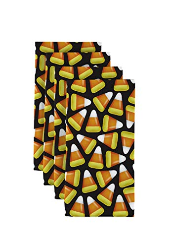Halloween Candy Corn Black Signature Dinner Napkins -
