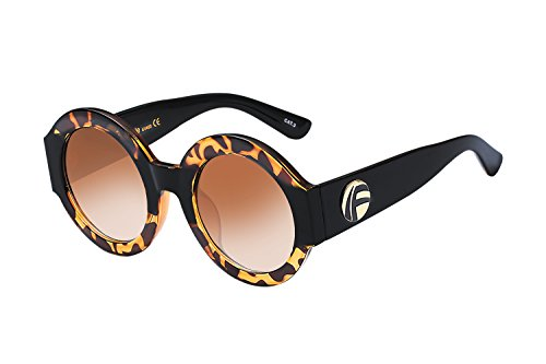 UV- Oversized Round Sunglasses Women Multi Tinted Frame,Fashion Trend Sunglasses(amber - Sunglass Trend