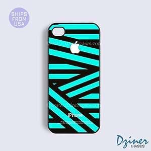 Case Cover For SamSung Galaxy S6 Tough Case - model - White Green Zebra Stripes