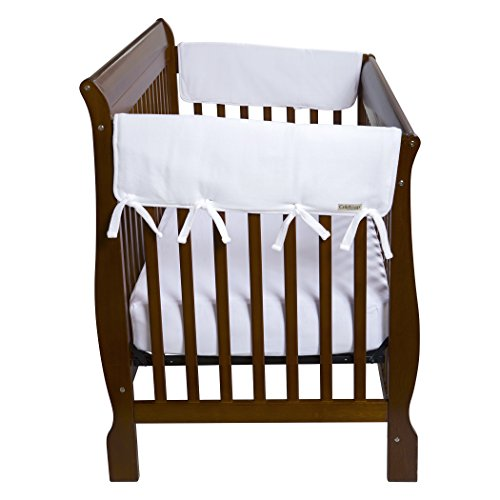 (Trend Lab Waterproof CribWrap Rail Cover - For Wide Side Crib Rails Made to Fit Rails up to 18
