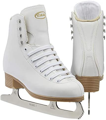 Jackson Ultima GAM Stella Clasicue Womens, Men, Girls, and Boys Figure Ice Skates in White and Black Colors