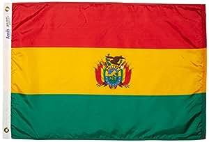 ANNIN & COMPANY Annin Flagmakers 190677Nylon SolarGuard nyl-GLO Bandera de Bolivia, 2x 3'