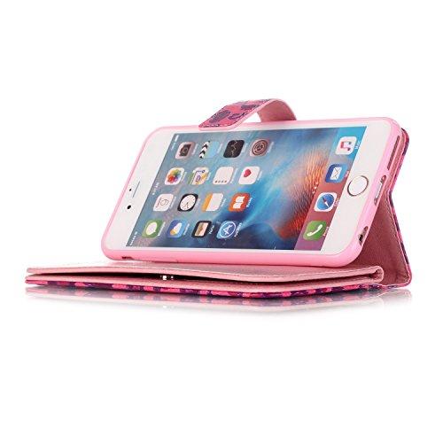 Cover Apple 7 smartphone nbsp;tarjeteros Carcasa PU Apple 6 Flip nbsp;pulgadas 7 Atril Función nbsp; Con 4 iPhone piel para Tarjetero magnético Funda nbsp; nbsp;pulgadas para de 4 7 iPhone marrón Conector Libro 9 6 Polvo r0EEqPg5w