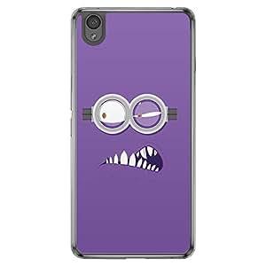 Loud Universe Oneplus X Minion P Printed Transparent Edge Case - Purple