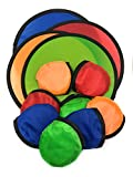 SVT 12 x Foldable Flying Disc/Fan with Bag Assortment - 9.5'' Folding Frisbees in Four Exciting Colors