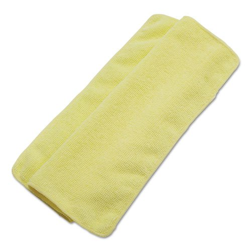 UNISAN Lightweight Microfiber Cleaning Cloths, Yellow, 16 x 16, 24/Pack by Unisan