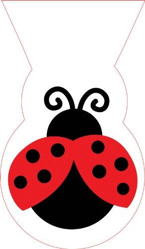 Creative Converting Mens LadyBug Fancy Treat Bags Black
