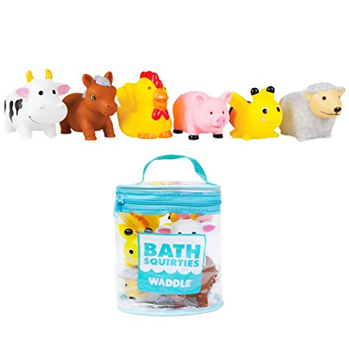 Waddle Bathtime Toys Farm Animal Bath Toy Squirters Cow Pig Sheep Horse and More from WADDLE