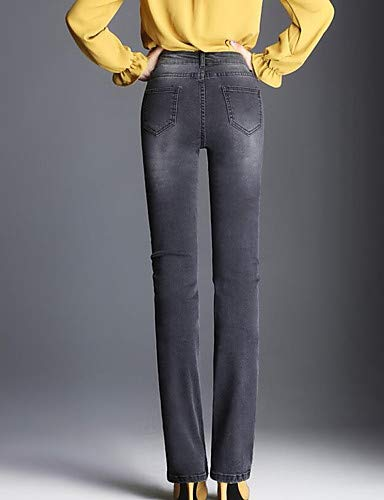 Gray Donna Da Chic Jeans Pantaloni Yfltz Tinta Unita n6pq0UnwH