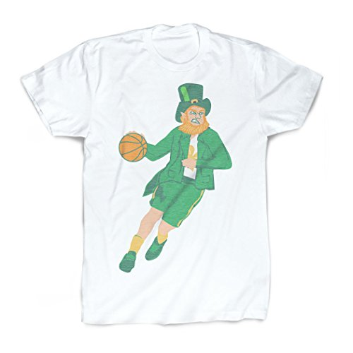 Leprechaun T-Shirt | Vintage Faded Basketball T-Shirt by ChalkTalkSPORTS | Youth Large