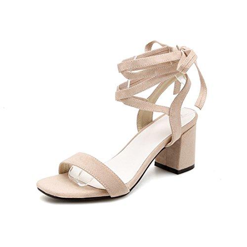 sandali dei sandali i alla i signore sandali cave alti e tacchi sandali i moda sandali bianco cave 40 riso X0n68zgq