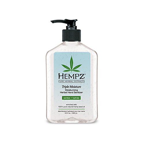 Sanitizer Hand Moisturizer - Hempz Triple Moisture Herbal Moisturizing Hand Sanitizer, 8.5 Ounce