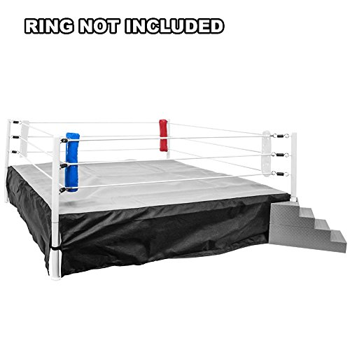 Set of 4 Wrestling Ring Corner Pads for WWE Wrestling Action Figures: Red, White & Blue by Figures Toy Company
