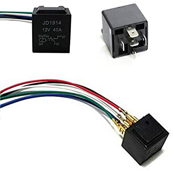 Amazon.com: iJDMTOY 5-Pin 12V 40A SPDT Relay Socket Wire For ... on