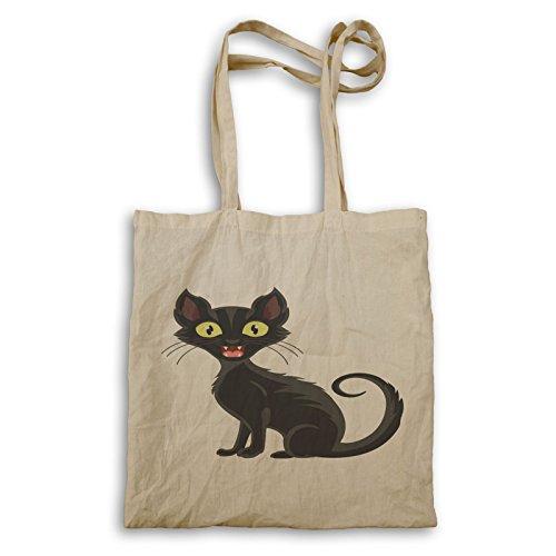 Katze Halloween Smiley Tragetasche r542r