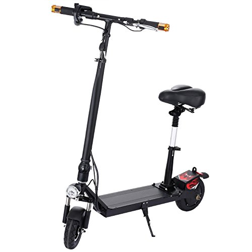 dtemple foldable electric scooter with retractable seat. Black Bedroom Furniture Sets. Home Design Ideas