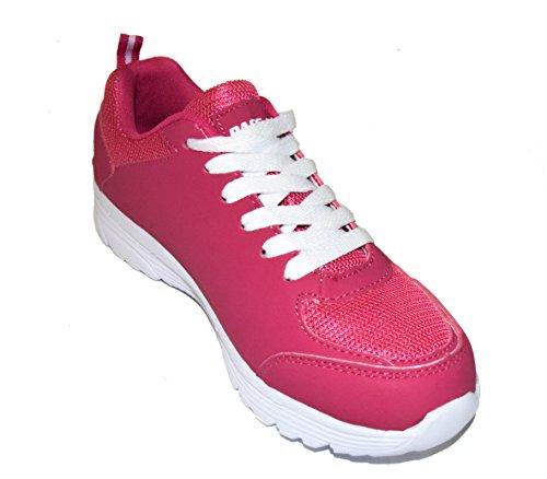 BTS - Zapatillas de running de malla para mujer Multicolor - Rosa/ Weiss