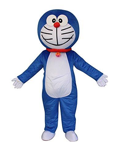 Doraemon Robot Cat Cartoon Mascot Costume Fancy Dress Cosplay Suit Outfit ()