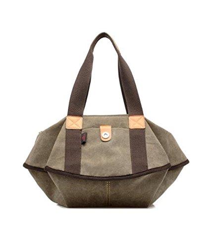 Tendencia Casual De Moda De La Lona Casual De Lona De Las Mujeres Messenger Messenger Bag Khaki