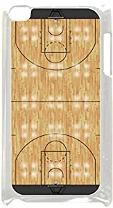 Basketball Court- Case for the Apple Ipod 4th Generation-Hard White Plastic