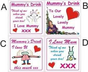 Smarts-Art I Love Mum Mummy Coaster