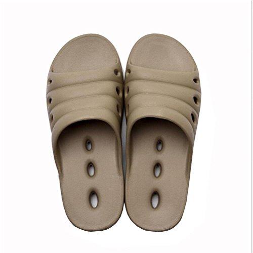 femmes de de massage salle de Les pantoufles des des antidérapantes de la hommes de pied bains douche et de sandale khaki avec mode qaR7tWR4