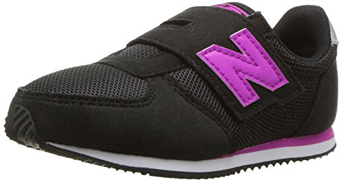New Balance Kids' 220v1 Hook and Loop Sneaker, Black/Purple, 10 W US Toddler New Balance Toddler Hook