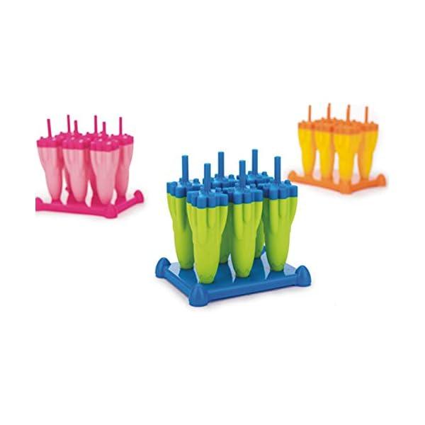 Danigrefinb Rocket - Stampo per cubetti di ghiaccio, 6 scomparti, per budini, gelatine, cubetti di ghiaccio, vaschetta… 4 spesavip