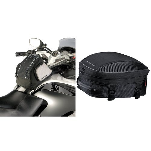 Nelson-Rigg CAS-455 Black Tank Bag for Can-Am Spyder and  CL-1060-S Black Sport Tail/Seat Pack Bundle ()