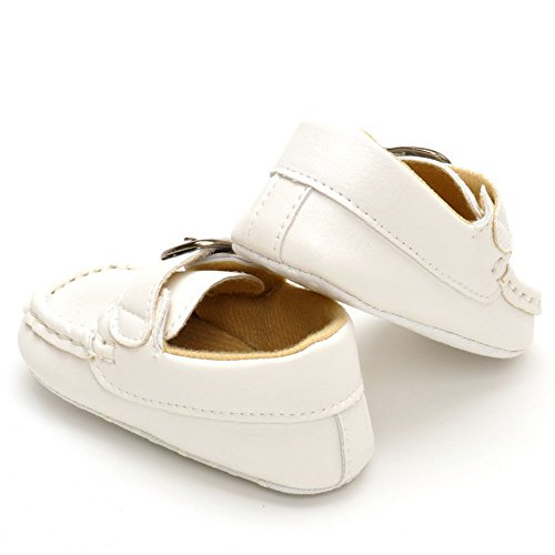 Mocasines para Bebé White-6 Talla:3-6 meses Blanco - blanco
