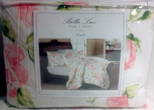 BELLA LUX BRIGITTE (TWIN QUILT) / 1 SHAM INCLUDED - Lux Quilt