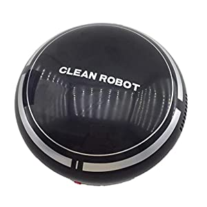 Kangma Smart Home Automatic USB Rechargeable Smart Robot Vacuum Floor Cleaner Sweeping Suction Smart Robot Cleaner Robotic Vacuums (Black)