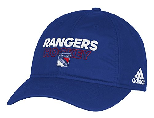 New York Rangers Adidas NHL Authentic Slouch Adjustable Hat