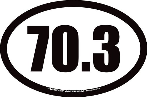 70.3 Half Ironman Triathlon Oval Car Magnet