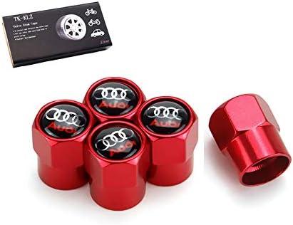 TK-KLZ 金属製車輪タイヤバルブステムキャップ 5個 Audi S Line S3 S4 S5 S6 S7 S8 A1 A3 RS3 A4 A5 A6 A7 RS7 A8 Q3 Q5 Q7 R8 TTカースタイリング装飾アクセサリー