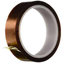 SRA Soldering Products SRA Gold Kapton Polyamide High Temperature Masking Tape, 260 Degree C, 30m Length by 1-Inch Width