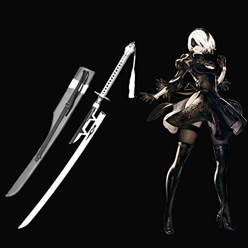 Yongli sword NieR Automata Yorha No.2 Type B 2B Sword Anime Game Carbon Steel Cosplay Sword (2B Virtuous - Sword Type
