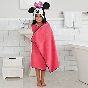 Disney Minnie Mouse hooded Bath WrapTowel   25 in  x 50 in  (63.5 cm x 127 cm) (Hooded Towel Minnie Mouse Disney)