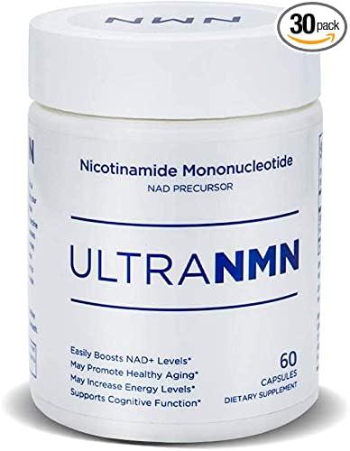UltraNMN Nicotinamide Mononucleotide NAD+ Supplement, Vitamin B3, 260 mg per Serving-NAD+ Precursor, Help DNA Repair, Boost Energy, Longevity, Metabolism-30 Capsules