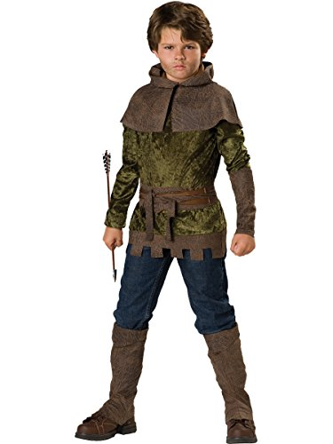 InCharacter Costumes Boys 8-20 Robin of Nottingham Costume, Forest Green, 8 ()