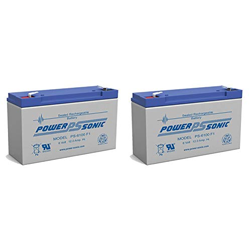Powersonic PS-6100 6v 12ah Deep-cycle Rechargeable Sla Energy Storage Battery - 2 Pack